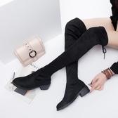 膝上靴秋季瘦瘦靴薄2020新款女鞋子網紅靴潮百搭韓版中跟長筒過膝靴長靴 童趣