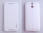 ROCK HTC One(E8) 側翻手機保護皮套 融系列 藍色可選