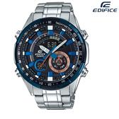 EDIFICE CASIO卡西歐 沉穩時尚 指針與數位 雙顯錶 多功能 計時碼錶 世界時間 男錶 ERA-600DB-1A