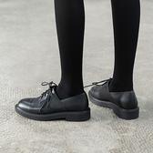 真皮牛津鞋 英倫風小皮鞋 繫帶低跟鞋/2色-標準碼-夢想家-1213