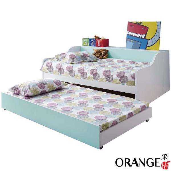 【采桔家居】莉莉安 簡約白3.5尺單人子母床台組合(子母床台+不含床墊)