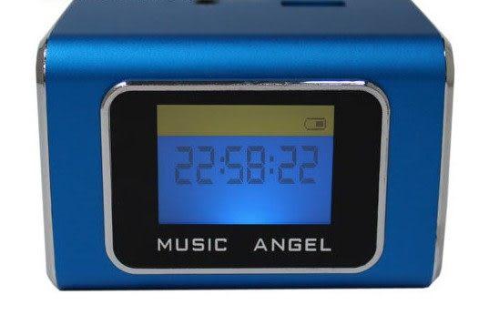 音樂天使MD-05X  藍色, 含繁體中文字幕,  支援MICRO SD卡 / USB隨身碟, 鋁合金迷你音箱