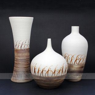 雜合三件套2-景德鎮陶藝高溫瓷-家居飾品陶瓷花瓶工藝品擺件禮品 空運來台