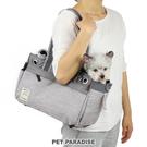 【PET PARADISE 寵物精品】PP 單肩外出包-灰色【小1.5~4kg】 寵物外出包