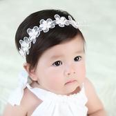 珍珠透明花朵彈性髮帶 兒童髮飾 頭髮造型用品