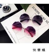 太陽鏡女圓臉韓版氣質墨鏡優雅潮個性眼鏡