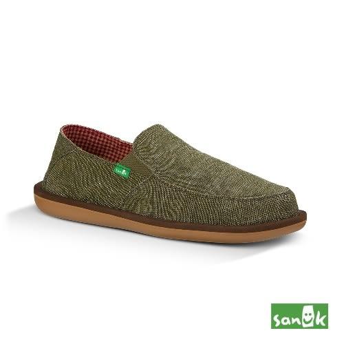 SANUK  騎士系列內格紋懶人鞋-男款SMF10967 OLV(墨綠色)