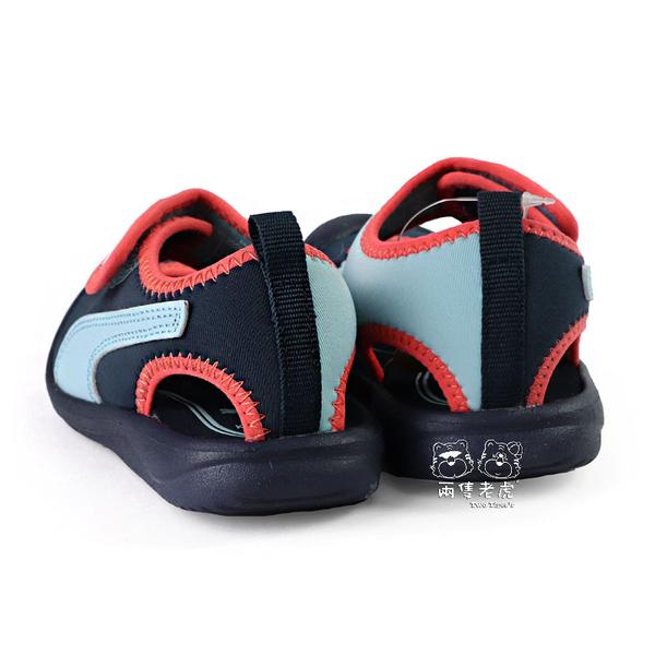 Puma Aquacat Inf 藍色 魔鬼氈 包頭 涼鞋 寶寶鞋 小童鞋 NO.R5545