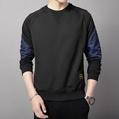 長袖t恤男士衛衣春季上衣服男裝潮流春裝秋衣黑色打底衫內搭體恤T 黛尼時尚精品
