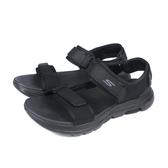SKECHERS GOWALK 運動型 涼鞋 男鞋 黑色 229003BBK no144