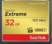 SanDisk Extreme CF 32GB 記憶卡 120MB/s 800X UDMA7 【公司貨】