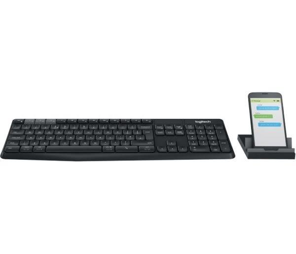 [富廉網]【限量下殺$699】羅技 Logitech K375s Multi-Device 無線鍵盤支架組合