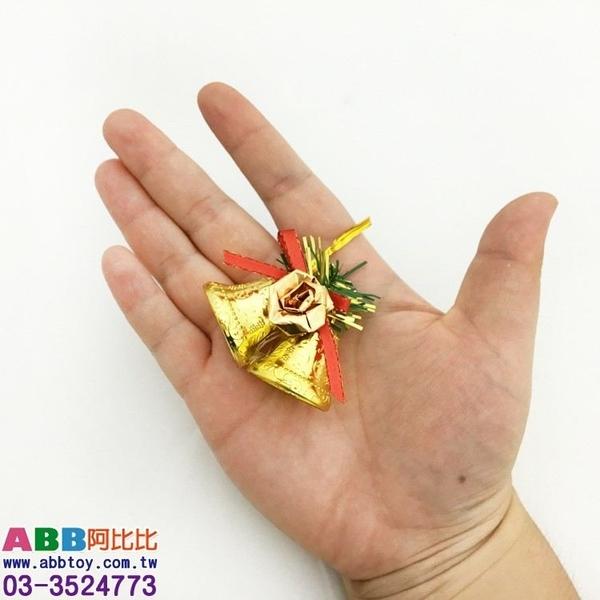 A1117★聖誕雙鐘吊飾4入_6*5.5cm#聖誕派對佈置氣球窗貼壁貼彩條拉旗掛飾吊飾