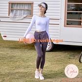 瑜伽套裝女外穿高腰提臀跑步速干運動褲子夏季薄款【大碼百分百】