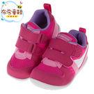 《布布童鞋》Moonstar日本櫻桃粉色寶寶透氣機能學步鞋(13~16公分) [ I7X7S2G ]