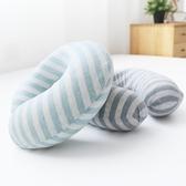 出口日本記憶棉u型枕頭飛機旅行枕便攜天竺棉辦公室午睡護頸枕