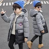 洋氣棉服加絨加厚潮流夾克外套 男孩羽絨外套男童外套 秋冬拼色男寶寶棉衣 中大童韓版外套