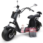 哈雷電瓶車 哈雷電動車雙人城市滑板代步男女性踏板電瓶車寬胎摩托車T