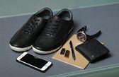開箱 Boxopened 男生黑色輕便舒適運動鞋 100%真皮牛皮 台灣製造 MIT