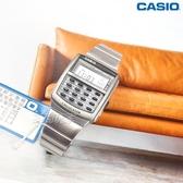 CASIO卡西歐 CA-506-1 復古潮流風電子錶 計算機 不銹鋼男錶 學生錶 黑x銀 CA-506-1DF【時間玩家】