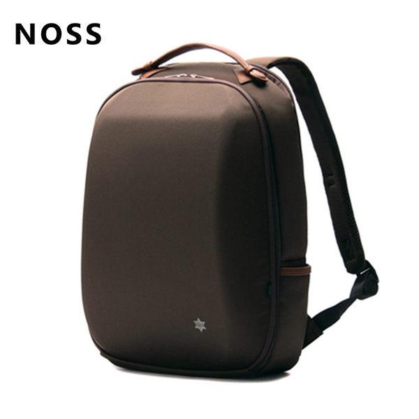 NOSS 15.6吋硬殼筆電後背包 咖啡色 NX-001BR