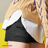 【SHOWCASE】休閒前口袋拼接簡約短褲(黑)