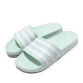 adidas 拖鞋 Adilette Aqua 綠 白 運動拖鞋 女鞋 涼拖鞋 舒適好穿【PUMP306】 G28713