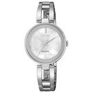 CITIZEN 手錶專賣店 EM0631-83D 光動能氣質女錶 不鏽鋼錶帶 強化玻璃鏡面 白蝶貝 防水100米
