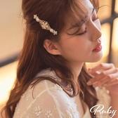 髮飾 韓國直送‧宮廷風雕花珍珠彈簧髮夾-Ruby s 露比午茶