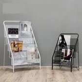 北歐簡約現代鐵藝雜志架置物架簡易落地兒童繪本小書架小學生書櫃『優童屋』