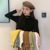 打底衫 秋冬洋氣針織衫新款韓版內搭黑色毛衣長袖高領上衣 【免運】