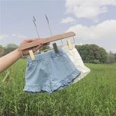 女童短褲 女寶寶短褲夏天夏薄款兒童外穿女童牛仔夏季白色嬰兒褲子洋氣小童-Ballet朵朵