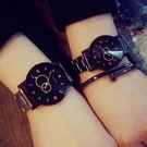 鋼帶 雙圈 秒針 時尚 潮流 休閒 簡約 男錶 對錶 女錶 手錶 手表 [W108]