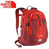 【The North Face 24L 15吋電腦背包 深橄綠/菊黃圖騰】CE89/筆電/電腦/登山/旅行包★滿額送