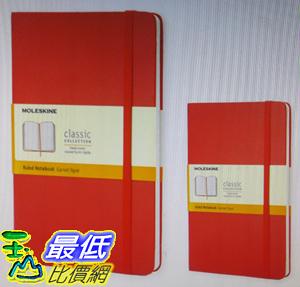 [COSCO代購]  W117070 Moleskine 經典橫條筆記本(大型+口袋型) 紅2入
