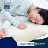 【airweave 愛維福】雙人加大_6.5公分 S-LINE三段式支撐機能薄墊 (日本製 可水洗 支撐力佳 分散體壓)