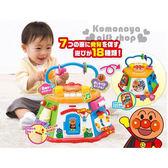 〔小禮堂嬰幼館〕麵包超人 益智玩具組《大.橘盒裝.7面.18種玩法》適合10個月以上兒童4971404-31089