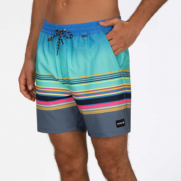 Hurley M PHTM SPECTRUM VOLLEY 17 AURORA GREEN 海灘褲-PHANTOM-SIG ZANE