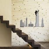 創意可移動壁貼 壁貼 背景貼 磁磚貼 時尚組合壁貼 浩克《YV4493》HappyLife