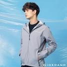 【GIORDANO】 男裝高機能刺繡連帽外套 - 01 銀灰