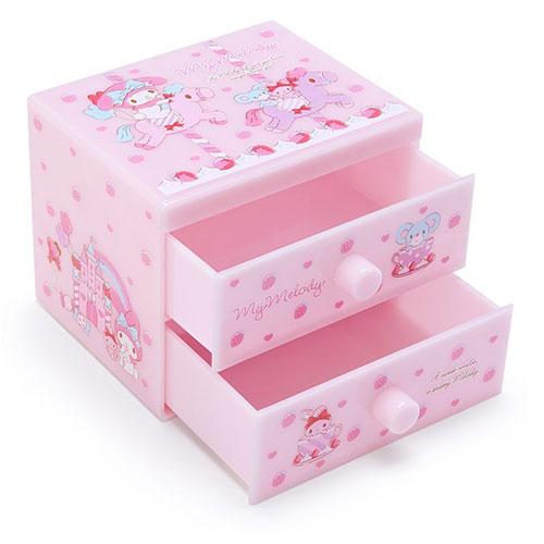 SANRIO 桌上型雙層櫃 小抽屜置物盒 美樂蒂_842702N