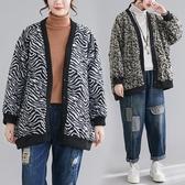 依多多 外套 復古文藝百搭休閒外套寬鬆慵懶毛呢加棉外套