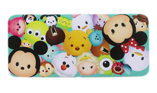 【卡漫城】 Tsum 鐵筆盒 粉綠 ㊣版 鉛筆盒 米奇 史迪奇 瑪莉貓 單層 馬口鐵製 Q版 迪士尼 Disney 日版