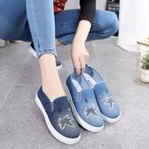 老北京布鞋女鞋牛仔帆布鞋夏孕婦單鞋厚底學生休閒鞋 後街五號