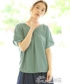 B28041日單精品夏季新款日系V領套頭寬鬆顯瘦上衣女多色時尚襯衫 好樂匯