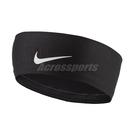 Nike 頭帶 Fury Headband 2.0 黑 白 男女款 勾勾 快乾 吸汗 運動休閒【ACS】 NJND801-0OS