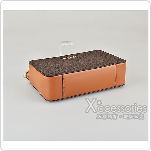 MICHAEL KORS JET SET金字LOGO PVC流蘇設計拉鍊斜背相機包(中/多色)