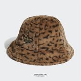 ADIDAS 漁夫帽 豹紋 絨毛 咖啡 金標 帽 (布魯克林) H35548