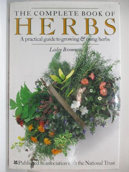 【書寶二手書T1/養生_D5P】Complete Book of Herbs Hb (The complete book)_Lesley Bremness