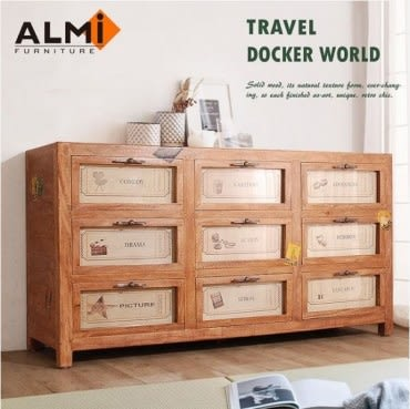 ALMI DOCKER WORLD- GRAINETIER 9 DRAWERS 九抽